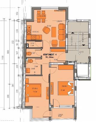 апартамент, втори етаж, тристаен, Банишора