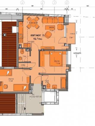 апартамент, пети етаж, тристаен, Банишора