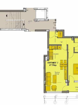 апартамент, първи етаж, двустаен, Банишора