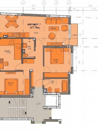 апартамент, втори етаж, четиристаен, Банишора
