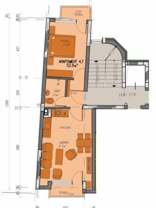 Апартамент 4, двустаен