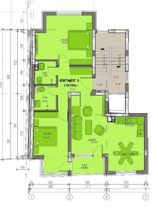 апартамент, трети етаж, тристаен, Банишора