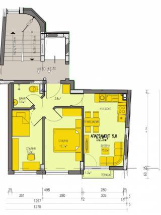 Апартамент 5, тристаен
