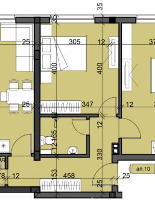 апартамент, четвърти етаж, тристаен, Люлин 10