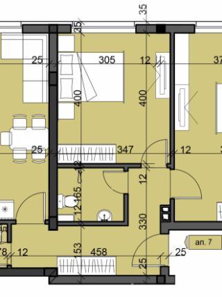 апартамент, трети етаж, тристаен, Люлин 10
