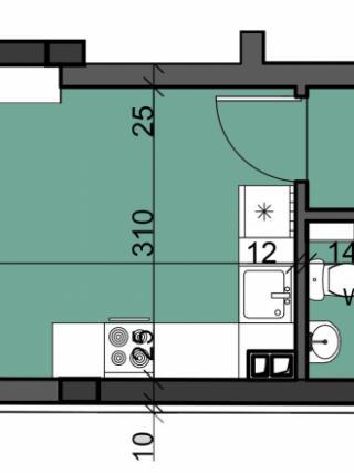 апартамент, пети етаж, двустаен, Люлин 10