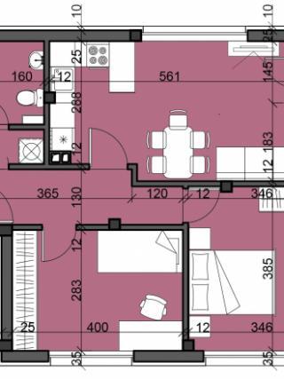 апартамент, четвърти етаж, двустаен, Люлин 10
